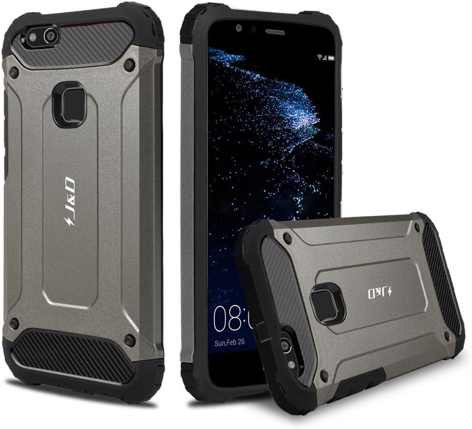 J&D Compatible pour Coque Huawei P10 Lite, [ArmorBox] [Double Couche] Coque de Protection Robuste Antichoc et Hybride pour Huawei P10 Lite - [Pas pour ...