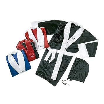 Fuji Mae - Bata Boxeo Saten, talla XL, color Bicolor: Negro-Blanco