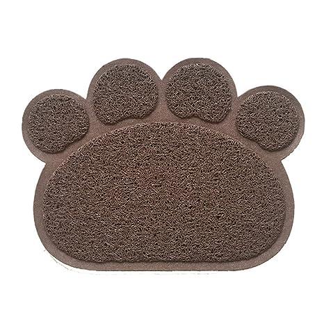 Alfombrilla de la caja de la basura del gato,SUAVER PVC paw-shaped Antideslizante