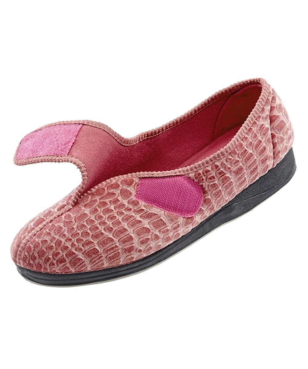 Amazon com   Womens Comfort Slippers   Wide   Womens House Slippers with  Adjustable Closures   Slippers. Amazon com   Womens Comfort Slippers   Wide   Womens House