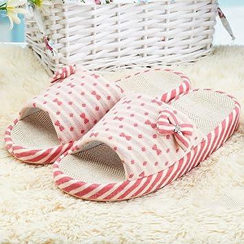 XIAOLIN-Sommer sandalen Leinen Zimmer Heimgebrauch paar Leinen Hausschuhe weibliche Sommer coole Hausschuhe Startseite...