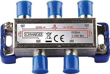 Schwaiger Vtf8844241 High End Verteiler 4 Fach Für Bk Elektronik