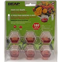 BEAPCO 6 Pack Drop-Ins Fruit Fly Traps - 10036CAN
