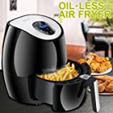 SUPER DEAL Electric Air Fryer 2.7QT Touch Screen Control w/ 7 Cooking Presets, Timer, Temperature Controland Detachable Basket, Recipe Cookbook Included