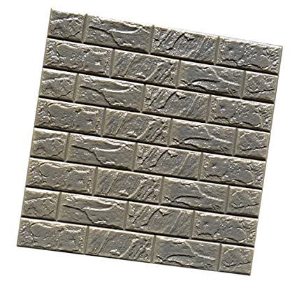 Buy Phenovo 3d Brick Waterproof Wall Sticker Self Adhesive Wallpaper