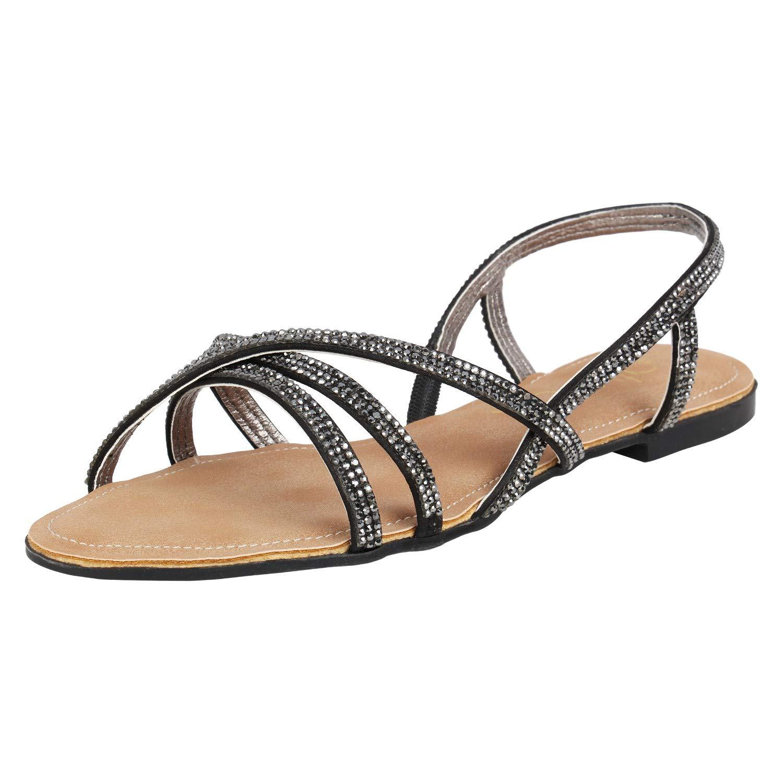 Catwalk Women's Embellished Strappy Sandals