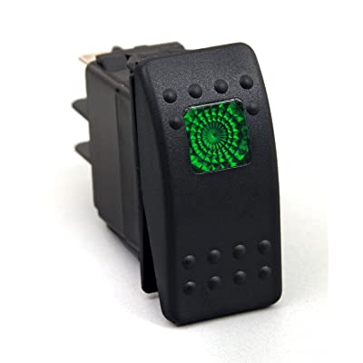 Daystar, Universal Rocker Switch with Green Light, 20 Amp, Single Pole, KU80012, Made in America,Blue: Automotive