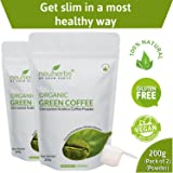 Neuherbs Organic Green Coffee Beans Powder for Weight Management 200g (Pack of 2)