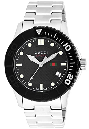 amazon com gucci watch g timeless ya126249 black dial 100m water