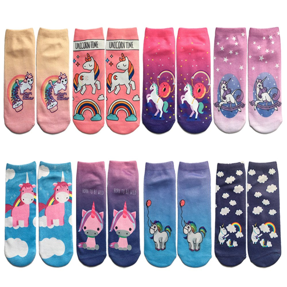 Topivot Women Girls Funny Socks, Crazy Novelty Ankle Socks 3D Printed Low Cut Socks