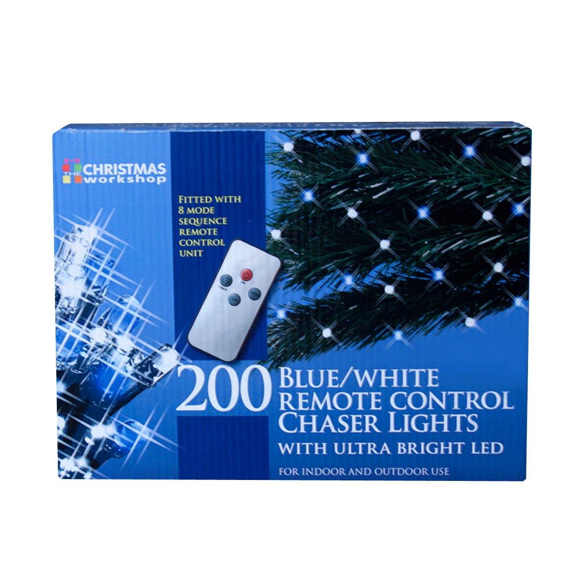 The Christmas Workshop 200 Remote Control LED Chaser Lights, Blue ...