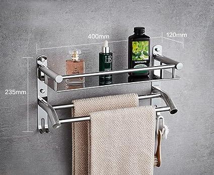 Kaxima El estante de toalla del acero inoxidable del cuarto de baño del estante de toalla