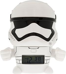 CLILU 2021371 Star Wars Stormtrooper Night Light Alarm Clock, Stormtropper