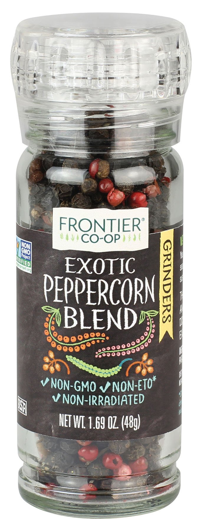 Frontier Natural Products Peppercorn Blend, Exotic, 1.69-Ounce (Pack of 3)
