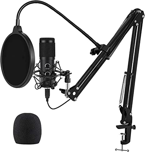 With Mute Button Compatible with PC Mac Plug /& Play Professional PC Microphone ps4 laptop ideal for Youtube,Skype,Gaming,Podcast USB Microphone for Computer