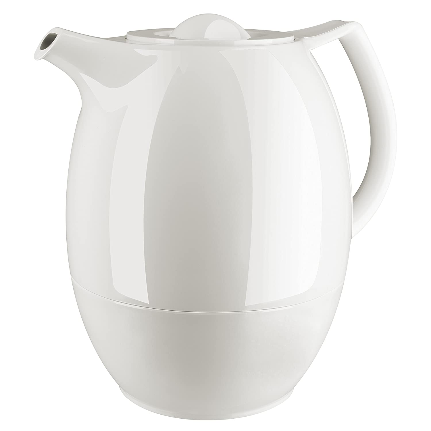 Emsa 503692 Ellipse vacuum tea pot with strainer, 1.0 litres, white