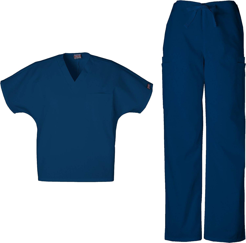 Cherokee Workwear Scrubs Men/'s Cargo Scrub Pants 4000 Navy Blue