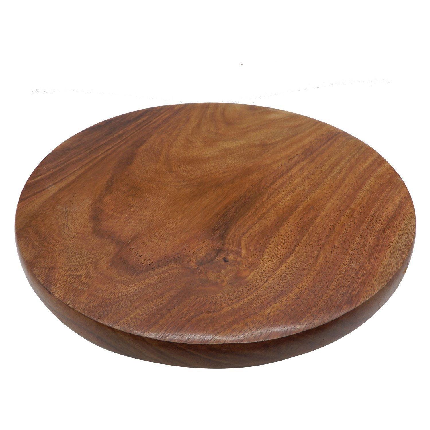 WhopperIndia Handmade Wooden Round Serving Board Perfect for Making Chapati and Roti Maker Daily Useful Kitchen Utensil 11 X 11 Inch
