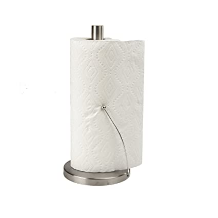Mind Reader Standing Paper Towel Holder, Counter Top Easy Tear Kitchen  Paper Towel Dispenser With