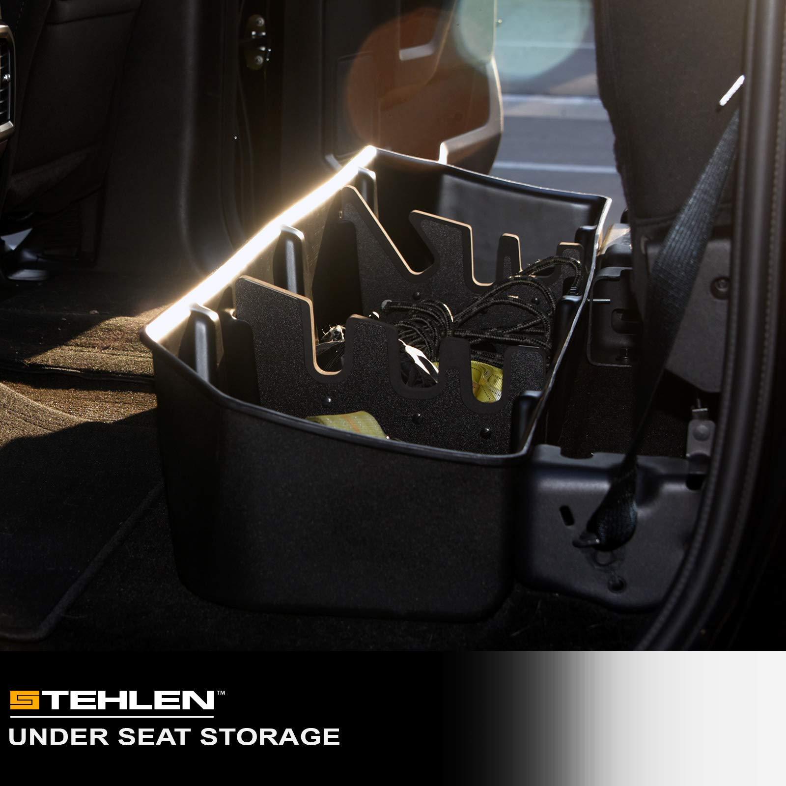 Stehlen 733469494546 Gearbox Underseat Storage Cargo Organizer Box - Textured Black For 14-18 Chevy Silverado/GMC Sierra 1500/15-19 2500/3500 HD Crew Cab by Stehlen