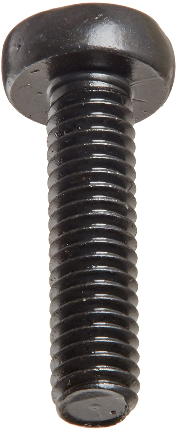 Import Black Oxide Finish Fully Threaded Meets DIN 7985 Pack of 100 Steel Pan Head Machine Screw 5 mm Length #1 Phillips Drive M2.5-0.45 Thread Size