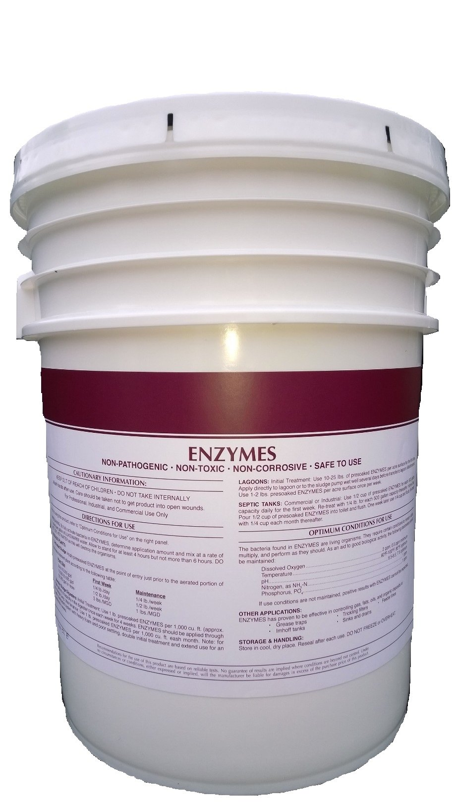Patriot Chemical Sales 10 Pounds Enzymes Powdered Septic Tank Treatment Bacterial Crystals Industrial Strength
