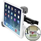 """Okra Universal 360° Degree Rotating Tablet Car Headrest Grip Mount for iPad, Galaxy, & all Tablets up to 11"""" (New 2015 Version) [Retail Packaging]"""