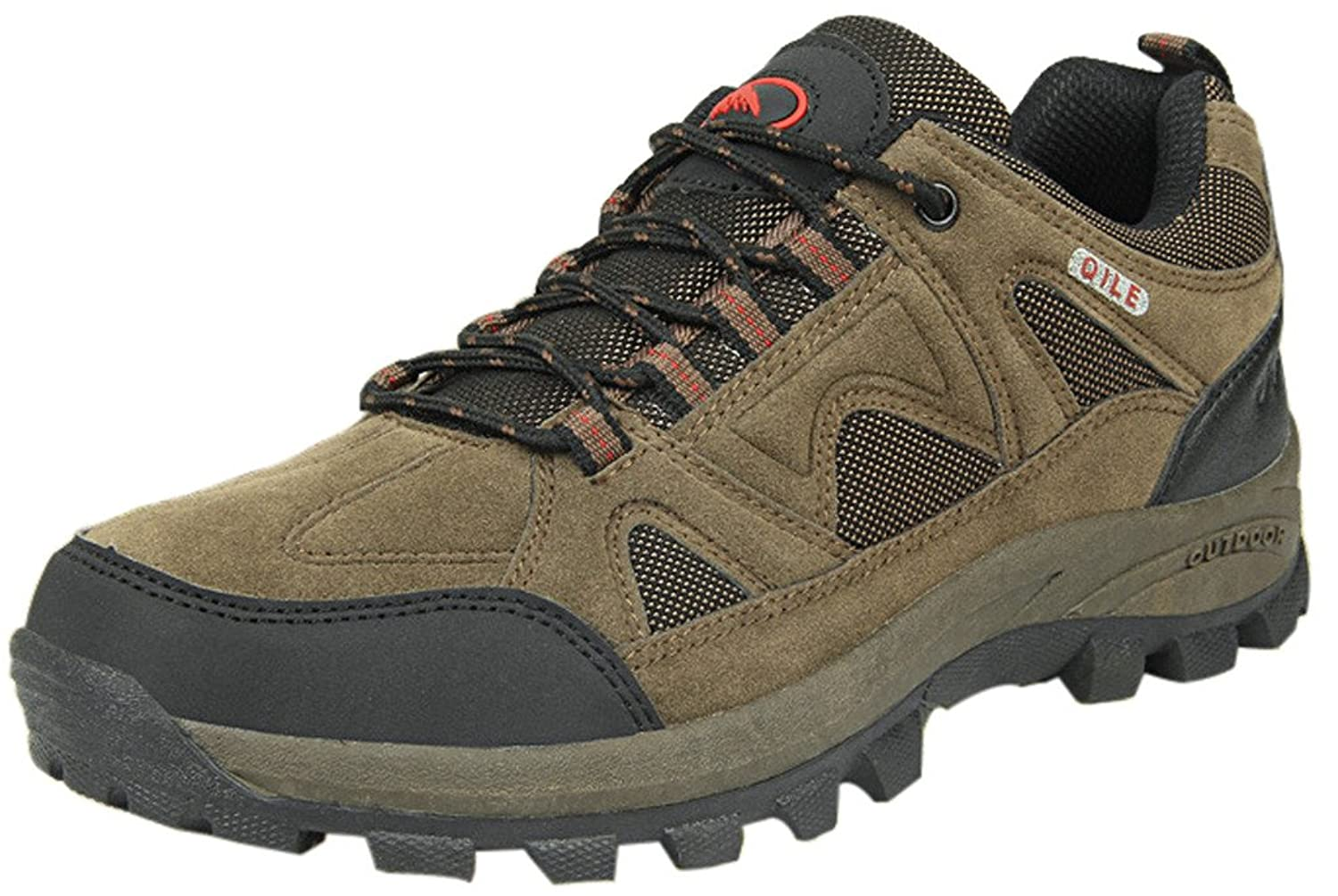 4How Men's Hiking Shoes Leather Trail(Clearance)