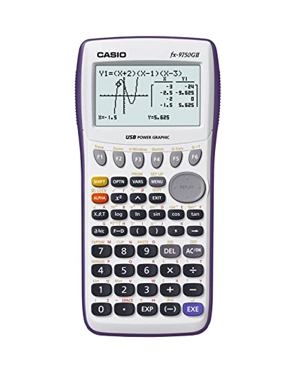 Casio fx-9750gii graphing calculator white (fx9750gapl): target.
