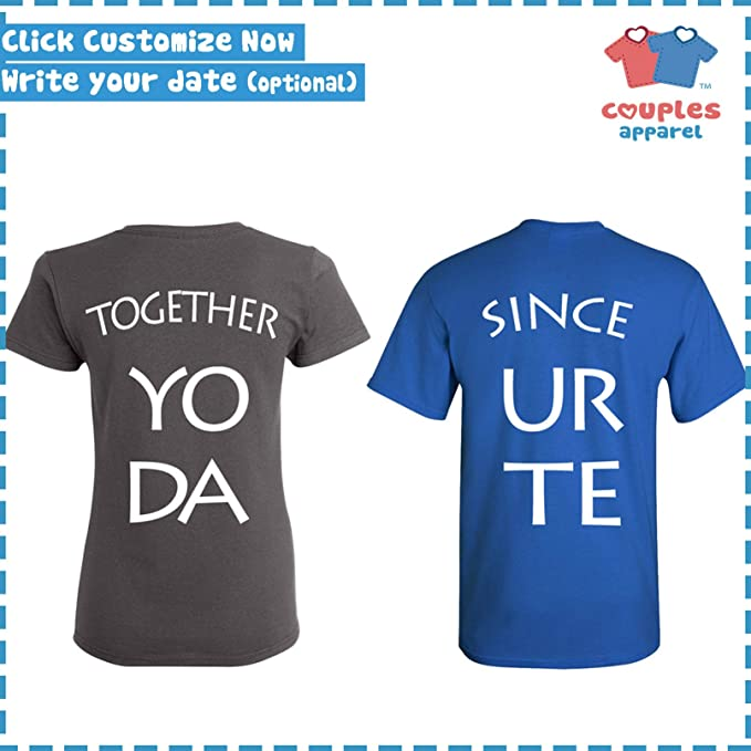47901c59d1 Amazon.com: King & Queen - Matching Couple Shirts - His and Her T-Shirts -  Love Tees: Clothing