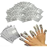 Nail Foil Remover Wraps, 100 Foils For Nail Gel Polish UV LED Art Soak Off Acyrilic Removal