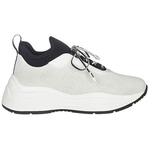 c94420da0b Prada Sneakers Donna Bianco + Nero: Amazon.it: Scarpe e borse