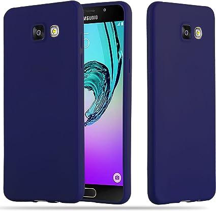 Cadorabo Coque pour Samsung Galaxy A5 2016 en Candy Bleu FONCÉ - Housse Protection Souple en Silicone TPU avec Anti-Choc et Anti-Rayures - Ultra Slim ...