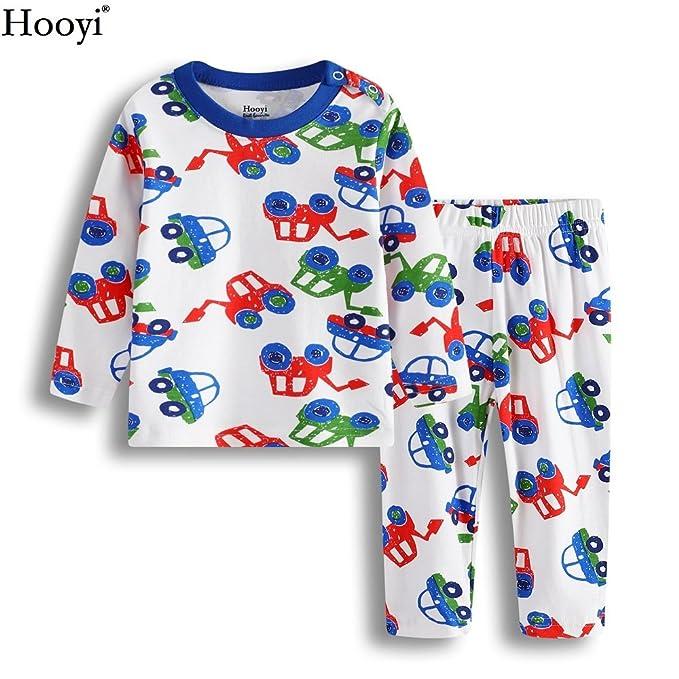 975f176ef3 Hooyi Digger Vehicle Baby Boys Sleepwear Clothes Suit Kid Pajamas  (70(3-6month