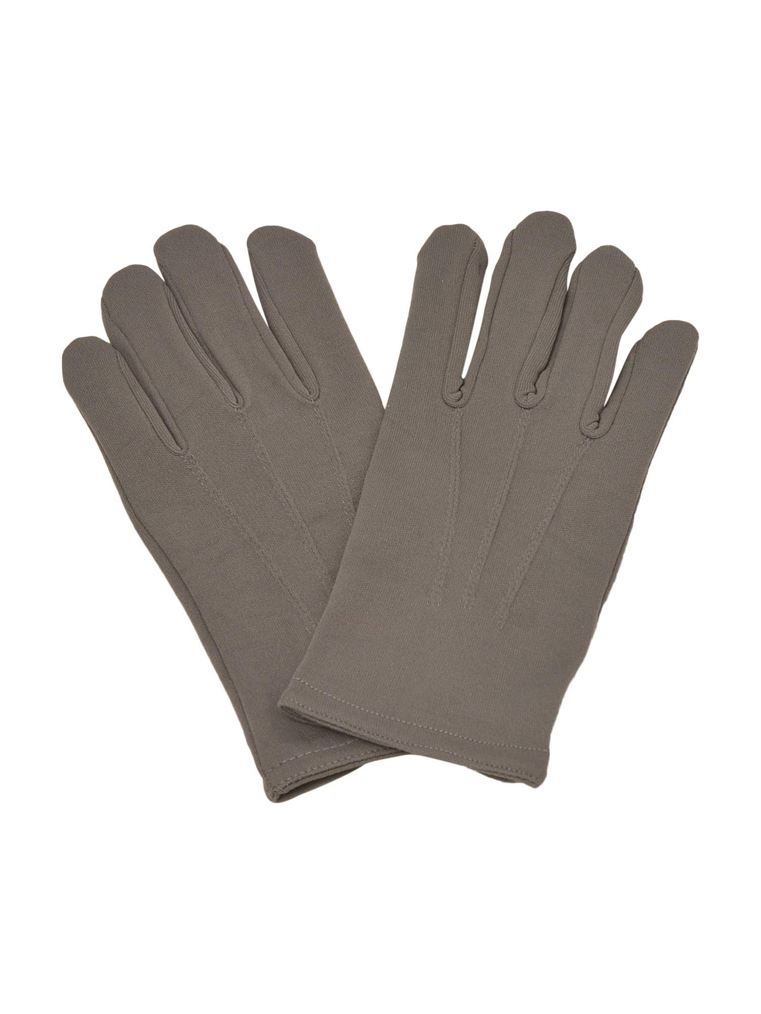 Big Boys Adult Gray Nylon Snap Button Special Occasion Gloves