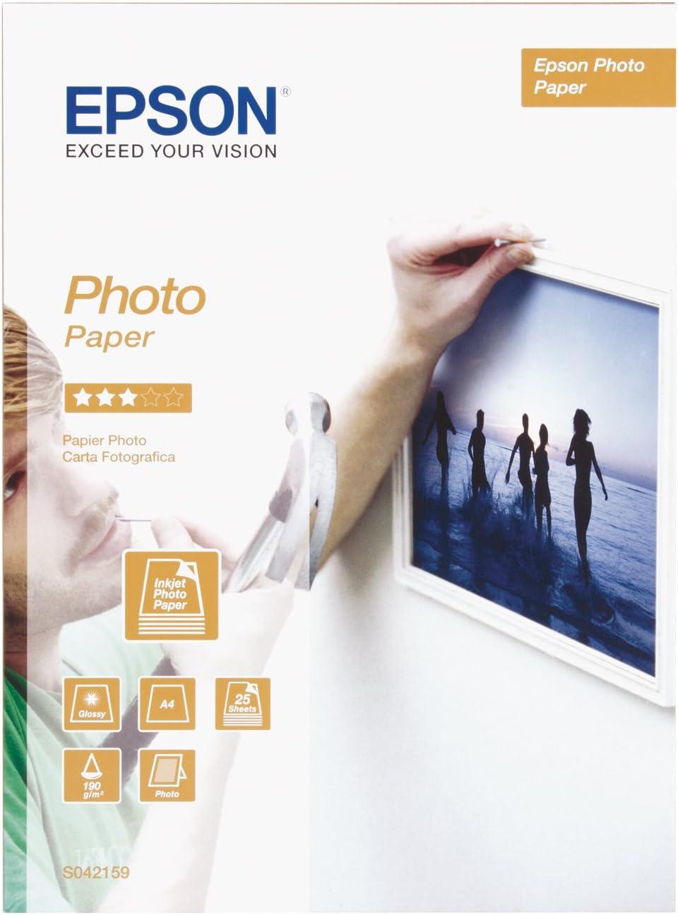 Epson C13S042159 - Papel fotográfico (A4, 25 hojas): Amazon.es ...