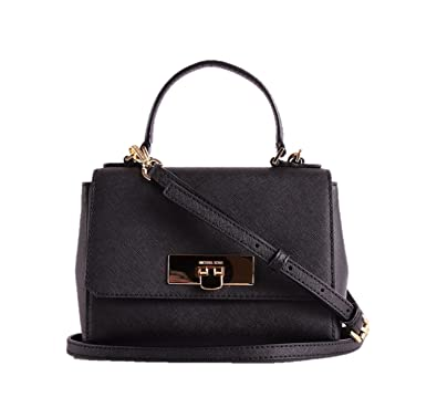 80c6826295 Michael Kors Callie Extra Small Leather Crossbody in Black  Handbags   Amazon.com