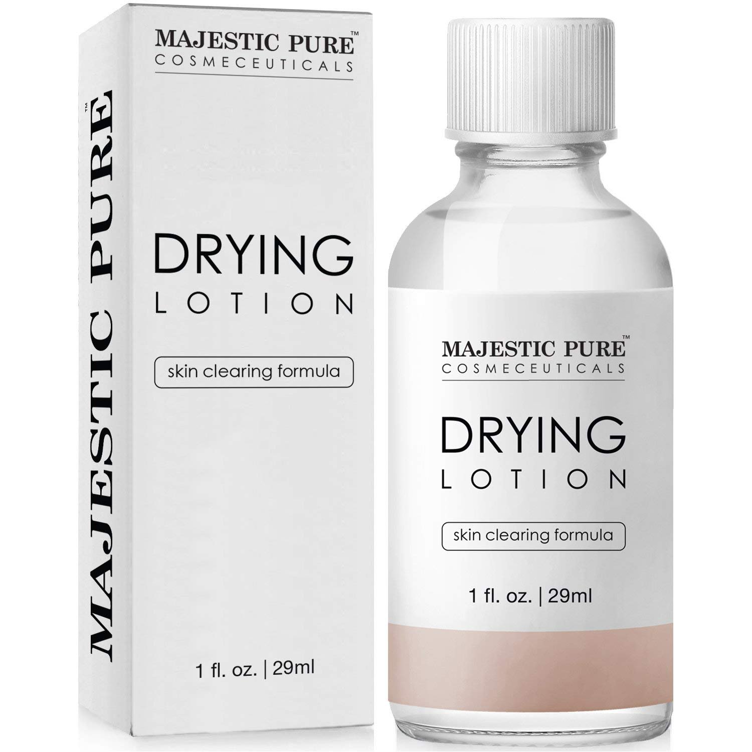 Majestic Pure Acne Drying Lotion, Acne and Pimples Skin Care Formula, 1 fl. oz.