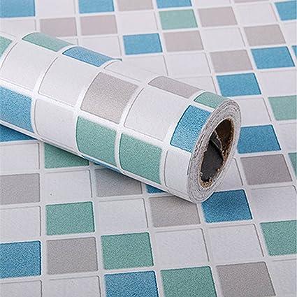 Mosaico cucina piastrelle moderno pvc adesivo carta da parati bagno cucina adesivi per - Piastrelle in vinile per cucina ...