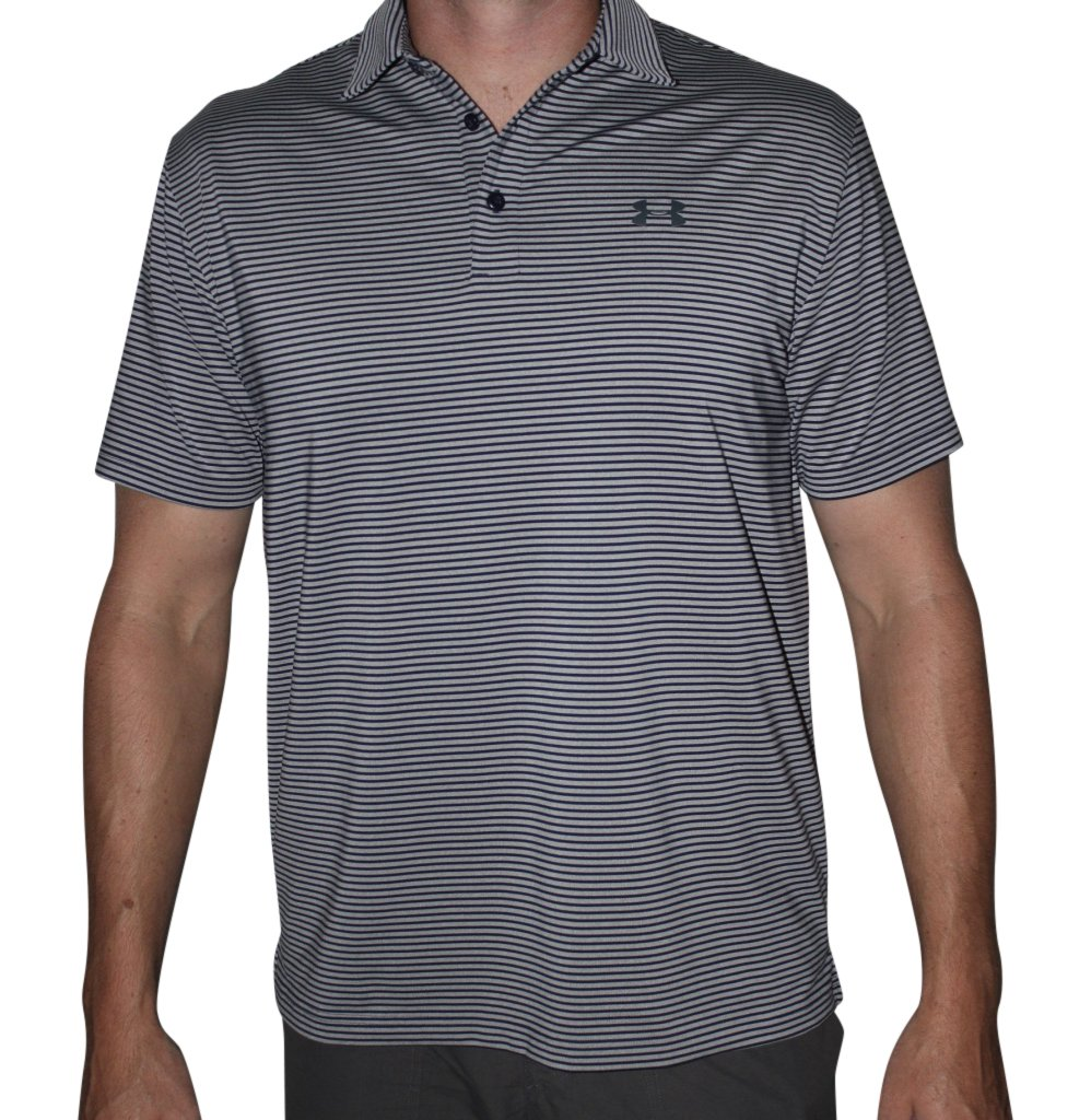 Under Armour Mens UA Elevated Heather Stripe Polo (Small, Blue (413))