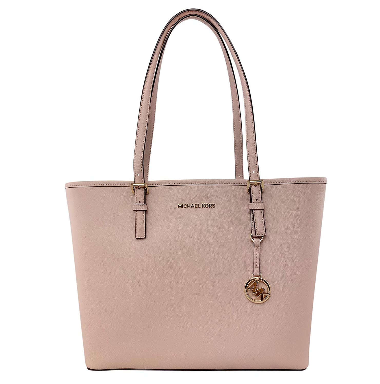 c06b4c70f6af08 MICHAEL Michael Kors Jet Set Travel Medium Carryall Tote Saffiano Leather -  Ballet: Handbags: Amazon.com
