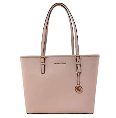ba12a74457af MICHAEL Michael Kors Jet Set Travel Medium Carryall Tote Saffiano Leather -  Ballet  Handbags  Amazon.com