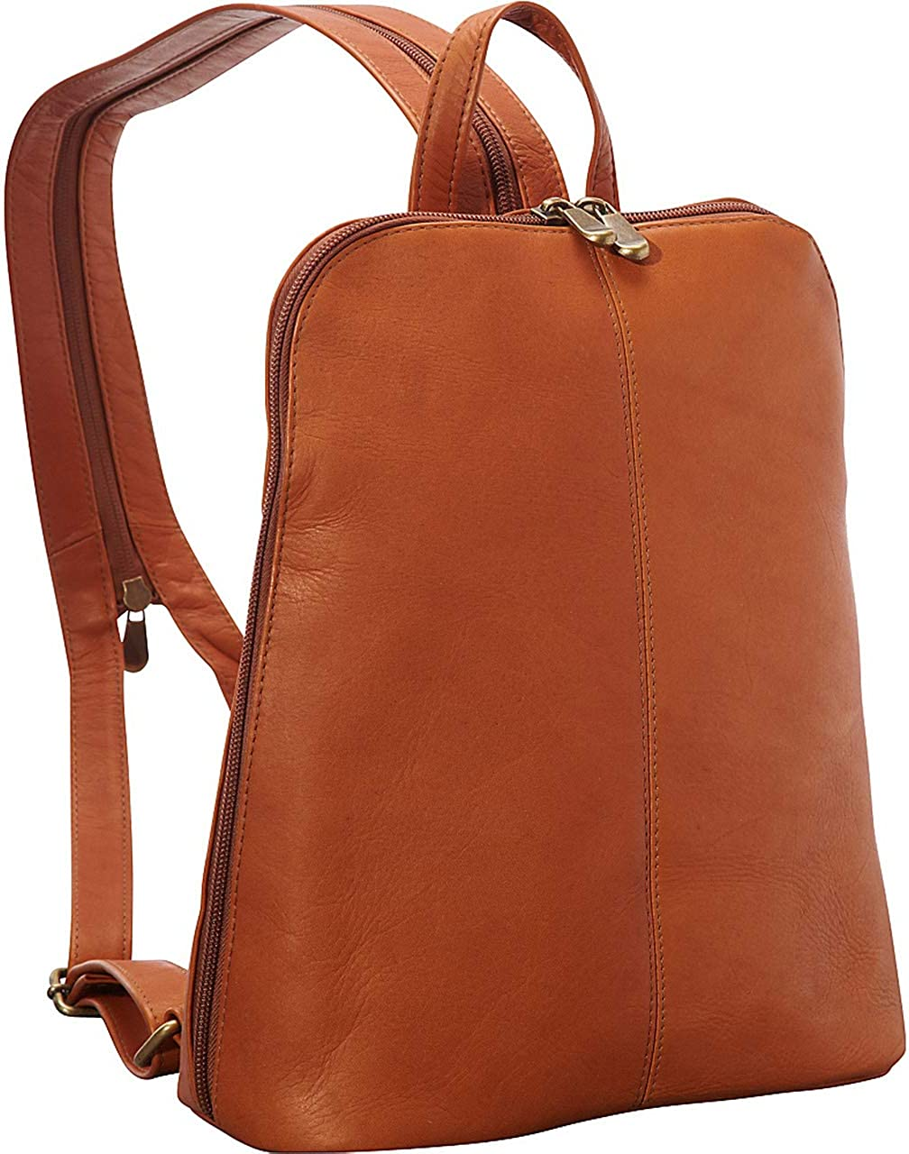 Le Donne Leather Womens Slim Sling Backpack 5 Colors Colombian Leather NEW