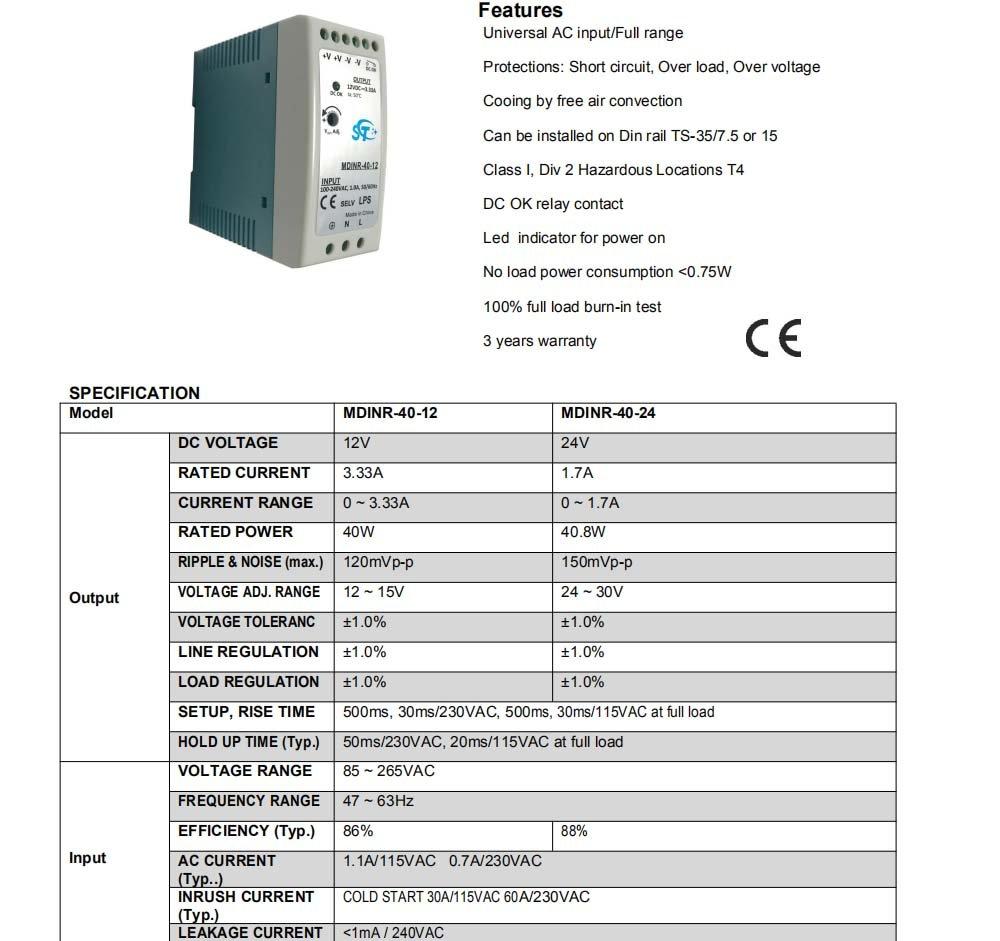 CA a CC DIN Rail mounted transformador adaptador 1.67A 12V DC jiemeiyin MDINR-20-12 Industrial DIN carril de conmutaci/ón de la fuente de alimentaci/ón -20W