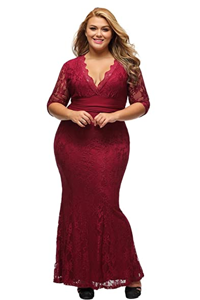Evening plus size dresses with sleeves
