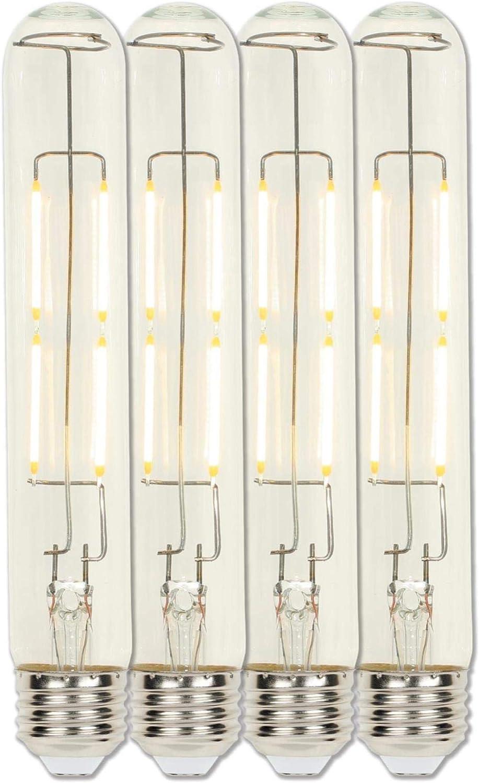 Westinghouse Lighting 3518420 4.5 (60-Watt Equivalent) T9 Dimmable Clear Filament Medium Base (4 Pack) LED Light Bulb, Four Pack
