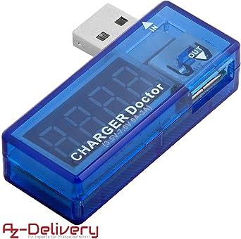 AZDelivery USB Charger Doctor Multimetro Cargador Medidor Voltaje ...