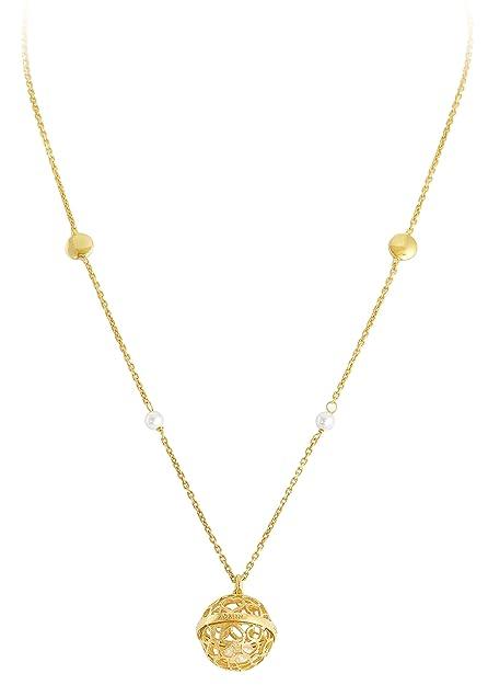 comprare popolare fd027 9968e Collana Chiama Angeli AG925 e Perle, Colore: Oro - Amen ...