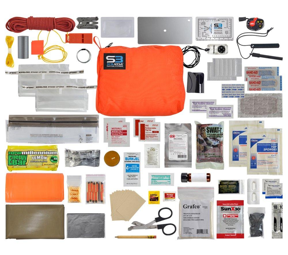 Hunter/Mountain Professional Grade Survival Kit (Orange) SOLKOA Survival Systems