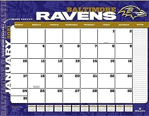 TURNER Sports Baltimore Ravens 2021 22X17 Desk Calendar (21998061528)